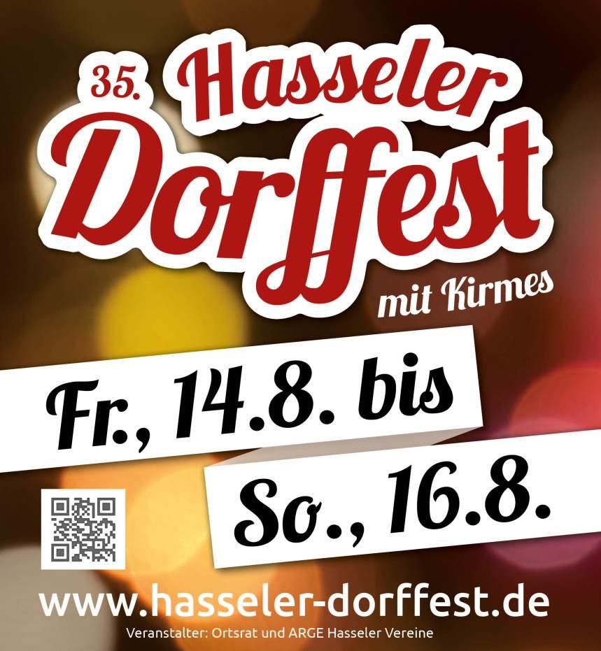 Plakat Hasseler Dorffest 2015