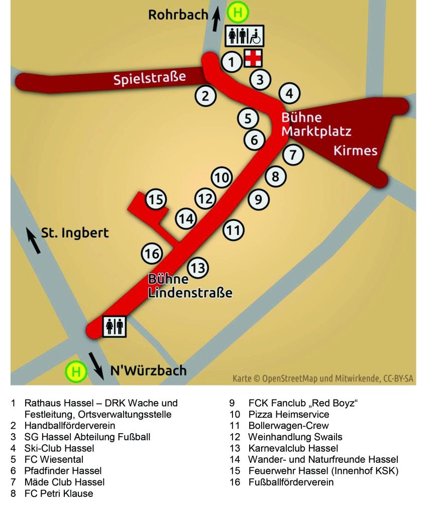 Festplan Dorffest Hassel 2016