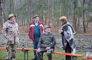 Herr Staut, treuester Besucher des Grombeerebrode, Thomas Wachall und Fredi Körner (Feuer)