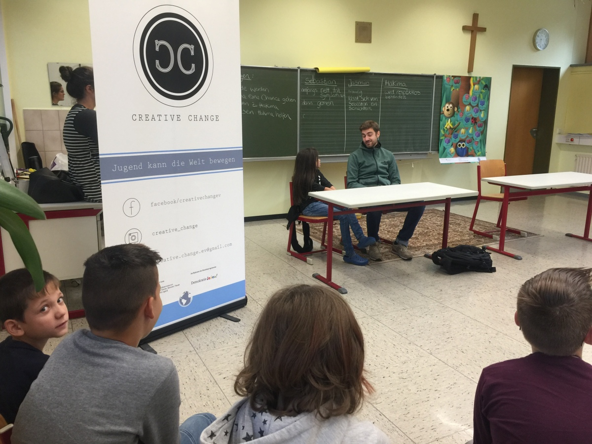 """""""Demokratie leben"""" – Projekt der 4. Klassen an der Pestalozzischule in Rohrbach und Hassel"""