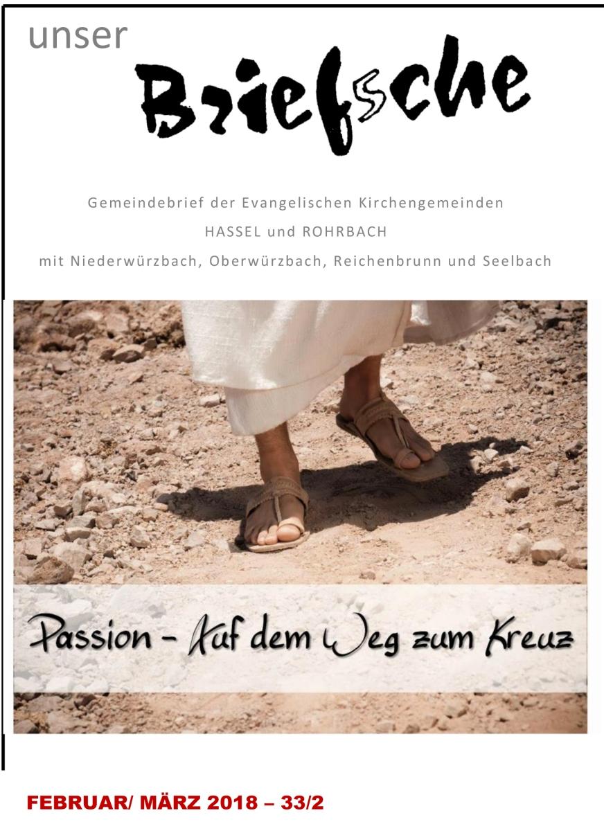 Das neue Brief'sche der evangelischen. Kirchengemeinde vom 17.1.2018