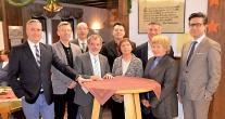 v.l.n.r.: Bürgermeister Pascal Rambaud, Uwe Herold (CDU-Ortsratsfraktion), Markus Derschang (Ex-Ortsvorsteher), Dr. Michael Rinck (CDU-Fraktionsvorsitzender OR Hassel), Dr. Frank Breinig (CDU-Stadratsfraktionsvorsitzender), Hildegard Schneider (CDU-Ortsratsfraktion), Alexander Funk (MdL), Christa Strobel (CDU-Stadtratsfraktion), Andreas Abel (stellvertr. Ortsvorsteher)